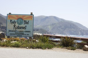 1/4 mile before the turnoff at Palo Colorado Rd., you'll see Rocky Point Restaurant.